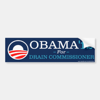 Obama voor de Commissaris van het Afvoerkanaal Bumpersticker