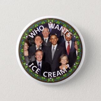 Obama wil Roomijs Ronde Button 5,7 Cm