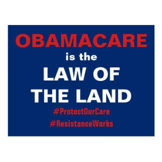 ObamaCare is de Wet van het Land verzet tegenzich Briefkaart