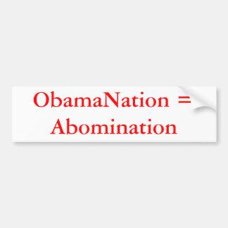 ObamaNation = Walg Bumpersticker