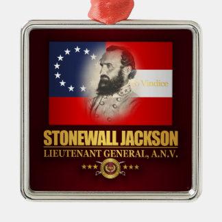 Obstructie voer Jackson (Zuidelijke Patriot) Zilverkleurig Vierkant Ornament