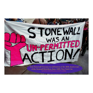 Obstructie voer was een Actie Unpermitted Poster
