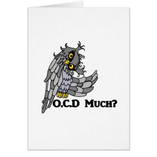 OCD veel? Gekke Uil Wenskaart