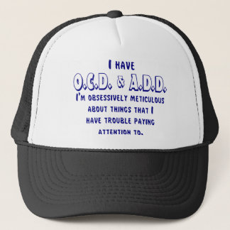 Ocd-VOEG toe Blauw/Wit Trucker Pet