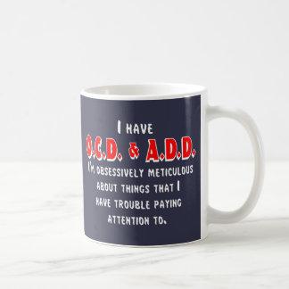 Ocd-VOEG toe Wit/Rood Koffiemok