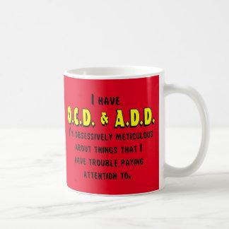 Ocd-VOEG toe Zwarte/Geel Koffiemok