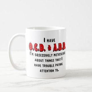 Ocd-VOEG toe Zwarte/Rood Koffiemok