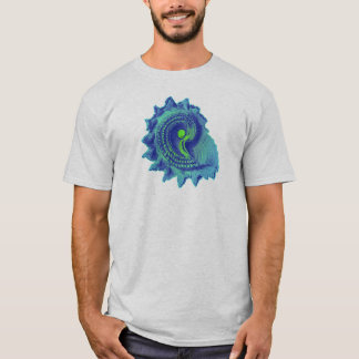 Oceaan Blauw Spiraalvormig Zee Shell T Shirt