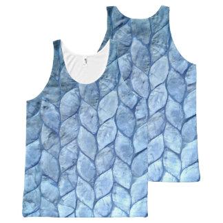 Oceaan Blauwe Shells All-Over-Print Tank Top