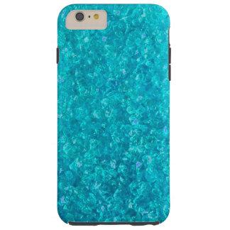 Oceaan Blauwe Verpletterde iPhone 6 van het Glas Tough iPhone 6 Plus Hoesje
