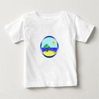 Oceaan en zonlicht baby t shirts