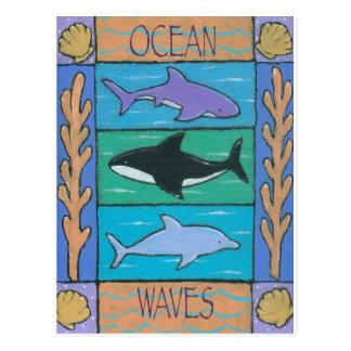 oceaan golven briefkaart