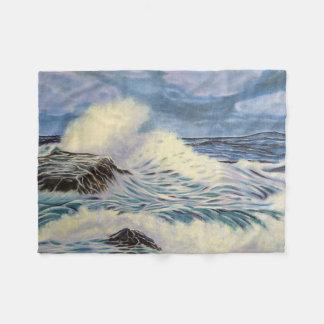 Oceaan Golven Fleece Deken