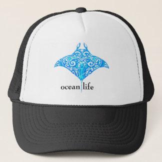 oceaan het levenspijlstaartrog trucker pet
