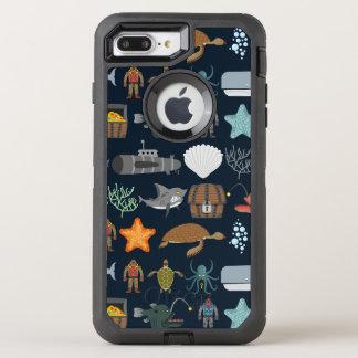 Oceaan Patroon 1 van Inwoners OtterBox Defender iPhone 8 Plus / 7 Plus Hoesje
