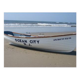 Oceaan Stad, * de Boot van de Kust van de Pret van Briefkaart