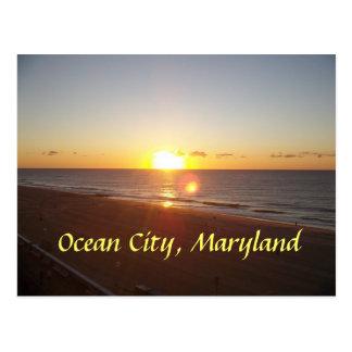 Oceaan Stad, de Zonsopgang van het M.D. Briefkaart