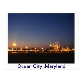 Oceaan Stad, Maryland, de V.S. Briefkaart