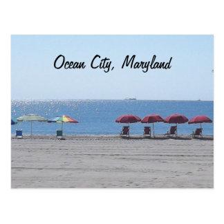 Oceaan Stad, Maryland - Leeg Strand Briefkaart