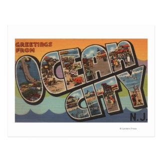 Oceaan Stad, New Jersey - de Grote Scènes van de Briefkaart