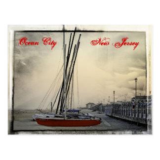 Oceaan Stad New Jersey - Zeil weg Briefkaart