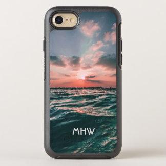Oceaan van het de douanemonogram van de OtterBox symmetry iPhone 8/7 hoesje