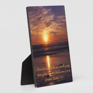 Oceaan zonsondergang fotoplaat