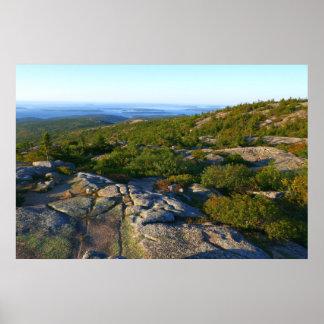 Ochtend boven op de Berg van Cadillac in Acadia Poster