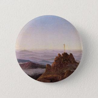 Ochtend in Riesengebirge - Caspar David Friedrich Ronde Button 5,7 Cm