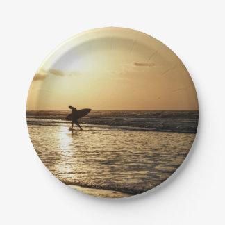 Ochtend Surfer Papieren Bordjes