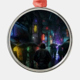Ochtenden voor Mensen van de Nacht Zilverkleurig Rond Ornament