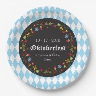 Octoberfest, de Borden van de Partij Oktoberfest - Papieren Bordje