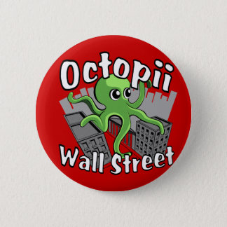 Octopii Wall Street - bezet Muur St! Ronde Button 5,7 Cm