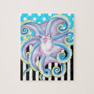 octopus blauwe stip puzzel