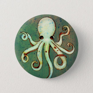 Octopus Cthulhu Ronde Button 5,7 Cm
