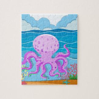 Octopus in de oceaan puzzel