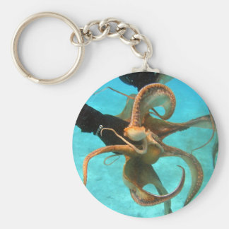 Octopus onderwater sleutelhanger
