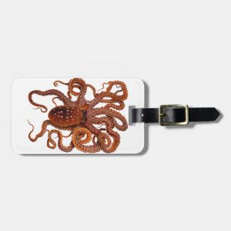 Octopus van Macropus van de octopus de Atlantische Bagagelabel