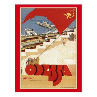 Odessa, Odesa, de Vintage Reis van de Oekraïne Briefkaart