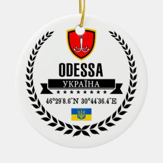 Odessa Rond Keramisch Ornament