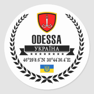 Odessa Ronde Sticker