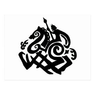 Odin en Sleipnir Briefkaart