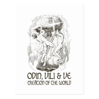 Odin, Vili en Ve Briefkaart