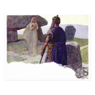Odin voor een Völva Briefkaart