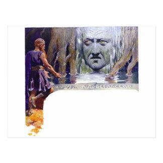 Odin voor Mimir Briefkaart