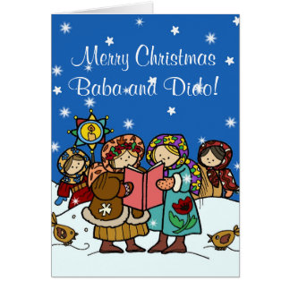 Oekraïense Kerstmis Carollers Kaart
