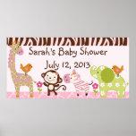 Oerwoud Jill/de Banner van het Baby shower van de  Plaat