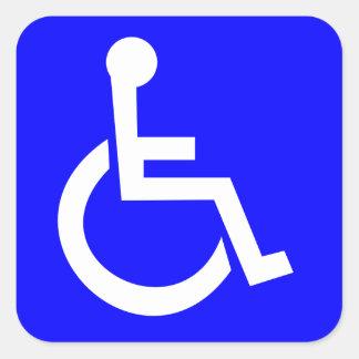 Officieel Internationaal symbool van toegang Vierkant Sticker