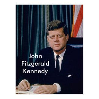 Officieel portret JFK van openbaar domein Briefkaart