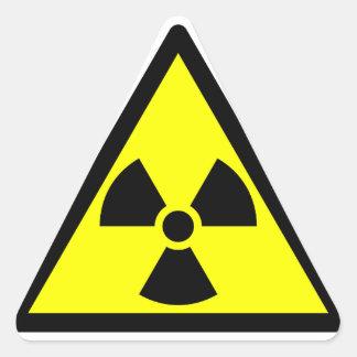 Officieel radioactief klaversymbool driehoek stickers